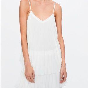 Zara Tops - Zara White Pleated tunic top or dress size XS